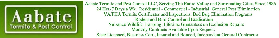 24hrs. 7 Days a Wk. Complete Pest Control Service